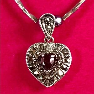 Jewelry - Sterling Garnet Pendant Necklace